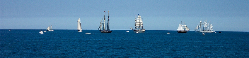 Image of tall ships in Saginaw Bay in 2003
