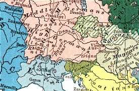 Image of detail from 'Racial' Map of Europe